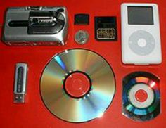 Some types of storage devices.
