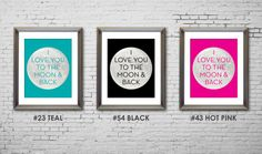 PRINTABLE I Love You to the Moon and Back by JaydotCreative