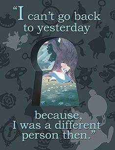 """Eureka Alice in Wonderland, I cant Go Back 17""""x22"""" Posters (837217) - Alice-in-Wonderland.net shop"""