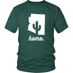 Sweet Home Arizona State T-shirt - District Unisex Shirt / Dark Green / S | Unique tees, hoodies, tank tops  - 1