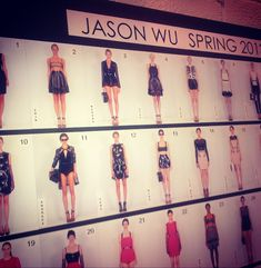 Lookboard y pre del desfile Jason Wu SS13 #nyfw #chinachase