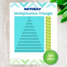 Mathery triangle multiplication printables for numbers 2-12! Complete these fun multiplication triangle worksheets to practice multiplication facts! www.wellsianco.com #wellsian #mathery #multiplication #multiplicationfacts #printables Maths Resources, Fun Math Activities, Triangle Worksheet, Multiplication Facts, Educational Games, Gratitude, Worksheets, Numbers, Stationery