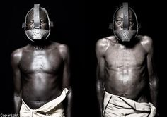 photos of slaves being punished.  Photos by Fabrice Monteiro.   ...The slave who dared to speak a bit to his master suffered the punishment of the Iron Mask. Similarly, during the harvest of sugarcane, iron masks were put on  hungry and thirsty slaves to prevent them from tasting or eating the cane.