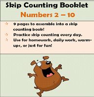 Here's a skip counting booklet using the numbers 2-10.