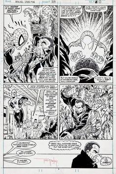 Coollinesartwork.com Comic Book Artists, Comic Books Art, Balloon Words, Beyond Good And Evil, Todd Mcfarlane, Comic Book Panels, Spiderman Art, Comic Page, Marvel Art