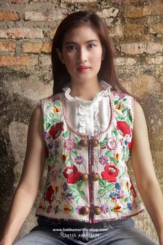 Batik Amarillis made in Indonesia proudly presents : Indonesia's traditional textile meets Hungarian embroidery Batik Amarillis' Creative Director Selly Hasbullah is huge aficionado of Hungarian embroidery she loves studying the variety & various pattern of rich,colorful,meticulous&intricate its embroidery from different regions in Hungary such as Kalocsa,matyo,kalotazeg etc we love combining its rich,meticulous,colorful & intricate embroidery with Indonesia's traditional textile