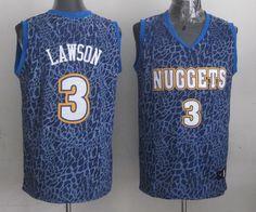 Men's NBA Denver Nuggets #3 Lawson Crazy Light Swingman Blue Jersey