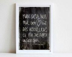Digitaldruck - Der kleine Prinz, Zitat, Print/ Poster DIN A4 - ein Designerstück von goodGirrrl bei DaWanda