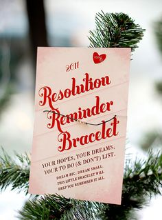 14 New Year's Eve Party Favors to DIY for! via Brit + Co. Resolution Reminder Bracelet