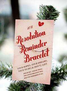 Resolution Reminder Bracelet via Brit + Co.