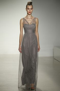 Illusion Straps Bridesmaid Dresses: Amsale Fall 2014 Collection Maid/Matron of Honor Selection Amsale Bridal, Amsale Bridesmaid, Fall Bridesmaid Dresses, Bridal Gowns, Bridesmaids, Evening Dresses For Weddings, Wedding Dresses, Dress Attire, Bridal Collection