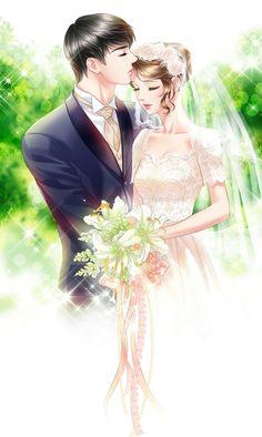 Anime art couples romantic New Ideas Anime Couples Cuddling, Anime Couples Manga, Cute Anime Couples, Couple Cuddling, Anime Girls, Couple Anime Manga, Anime Love Couple, Anime Wedding, Fantasy Couples