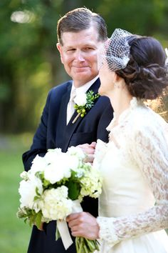sweet photo with dad | Mary Rosenbaum #wedding