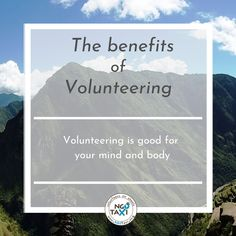 Volunteering provides benefits for both your mental and physical health, and these are just a few benefits:  🤝 Increases self-confidence, 🤝 Provides a sense of purpose, 🤝It helps you stay physically healthy.  Isn't that awesome? Volunteer Work, Volunteer Abroad, Work Travel, Stay The Night, Find A Job, Learning Spanish, Getting To Know, Taxi, South America
