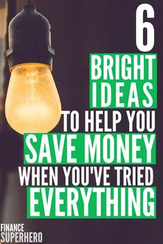 Have you tried every tip to save money you can think of and still find yourself behind on bills or struggling to make ends meet? Most people don't even think of these six ways to save money, but they're the real deal!