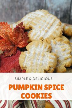These pumpkin spice cookies will bring the taste of Fall perfectly to your homemade desserts! Act quickly, because they won't last long! #cookies #holiday #pumpkinspice