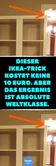 Dieser IKEA-Trick kostet keine 10 Euro. Aber das Ergebnis ist absolute Weltklasse. Toller IKEA-Trick mit Kallax-Regal kostet keine 10 Euro. #ikea #kallax #regal #wohnzimmer #lifehacks #diy