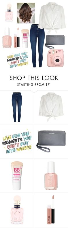 """QOTP: Do you know multiple languages? Which ones do you know?"" by annelieseoh ❤ liked on Polyvore featuring River Island, Tucano, Maybelline, Essie, Miu Miu and MAC Cosmetics"