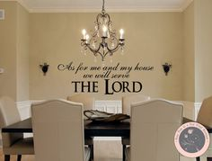 Wall Decals for the Home As for Me And My House, We Will Serve the Lord by FourPeasinaPodVinyl, $20.00 wall decals, vinyl wall decal, Christian wall decals