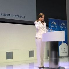 """Crown Princess Mary of Denmark attends the ceremony of the """"University Startup World Cup 2015 Prize"""" at the House of Industry"""