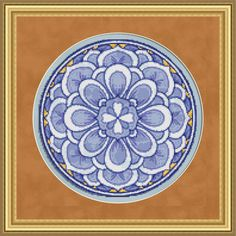 Counted Cross Stitch Pattern Floral Medallion 1 Cross Stitch Pattern / Design. $2.95, via Etsy.