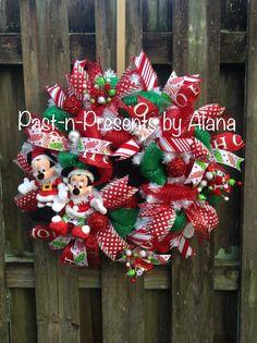 disney christmas wreathmickey minnie christmas wreathdisney mesh wreath disney decorchristmas mesh wreathrustic christmas