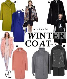 THE ULTIMATE WINTER COAT EDIT    http://www.styloko.com/womens-fashion/the-ultimate-winter-coat-edit/#