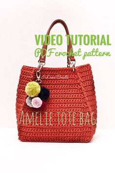 This Amelie tote bag pdf pattern Crochet bag pattern Tshirt yarn handbag patterns Boho bag video tutorial Gifts for knitters Sister gift is just one of the custom, handmade pieces you'll find in our patterns & blueprints shops. Crochet Tote, Crochet Handbags, Crochet Purses, Crochet Yarn, Free Crochet, Mochila Tutorial, Purse Tutorial, Backpack Pattern, Tote Pattern