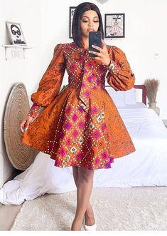 Unique Ankara Styles, Ankara Short Gown Styles, Short Gowns, Latest Ankara Short Gown, African Wear, African Attire, African Fashion Dresses, African Women, Skirt Fashion