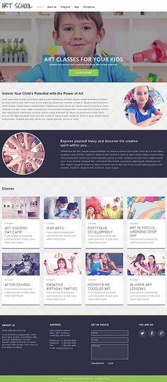 Template 49042 - Art School Moto CMS HTML Template