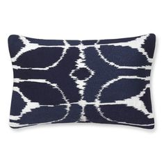Embroidered Ikat Pillow Cover, Navy | Williams-Sonoma. I saw jacks pillow on the living room chair. This could replace it!;)