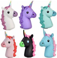 2600 mah banco de la energía para el iphone samsung xiaomi precioso emoji cartoon unicornio unicornio lindo cargador de batería de reserva externa portable