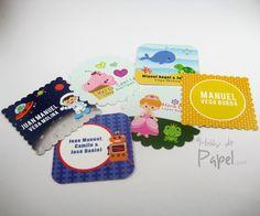 Tarjetas personales para niños y jóvenes. Tarjetas infantiles. Hobby de Papel. Colombia.