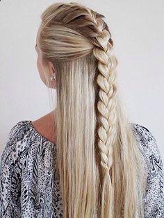 Cute Easy Summer Hairstyles For Long Hair - Hair Styles Cute Hairstyles For Teens, Easy Summer Hairstyles, Teen Hairstyles, Braided Hairstyles, Hairstyle Ideas, Quick Hairstyles, Latest Hairstyles, Amazing Hairstyles, Everyday Hairstyles