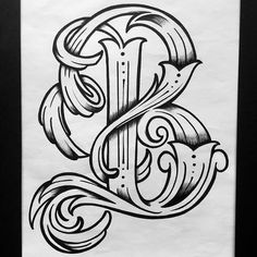 George Anzaldo Tattoo Fonts Alphabet, Tattoo Lettering Fonts, Hand Lettering Alphabet, Graffiti Lettering, Lettering Styles, Lettering Design, Fancy Letters, Creative Lettering, Vintage Typography