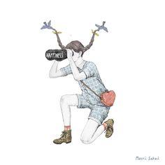 """日本発""""カジュアルGifアニメ""""に世界のアートファンが注目 Maori Sakaiが描く日常の幸せ"""