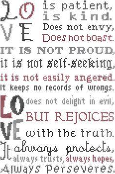 #countedcrossstitch #epattern #loveispatient #bibleverse #crossstitch