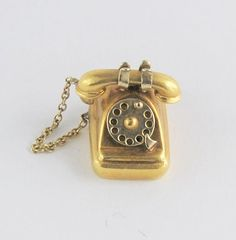 Vintage Movable Telephone Charm 14 karat yellow ~ 4 grams ~ $275.00