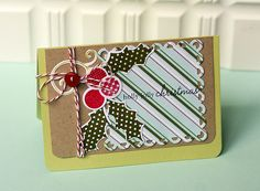 Holly Jolly Christmas Card by Danielle Flanders for Papertrey Ink (September 2012)