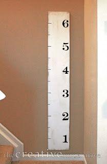 Girls room - DIY oversized ruler for growth chart