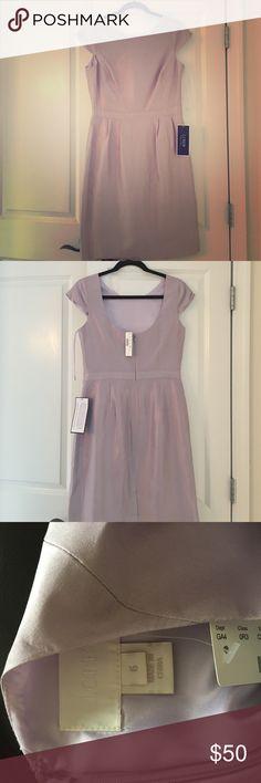 J.Crew Lavender silk dress Cap sleeve, scoop back, never worn. Gorgeous. Bought for a wedding. J. Crew Dresses Mini