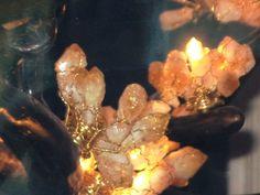 "Interior Design Gallery citrine ""cherry blossom"" chandelier up close - BEAUTIFUL"