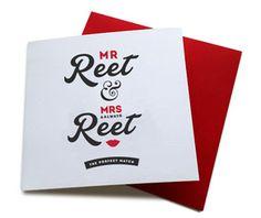 mr reet & mrs aalways reet geordie valentines card