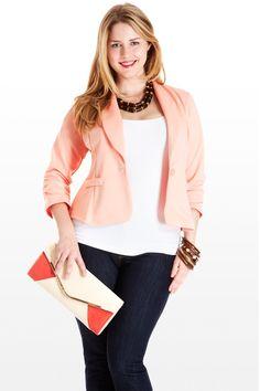 Peach Blazer #plus #size