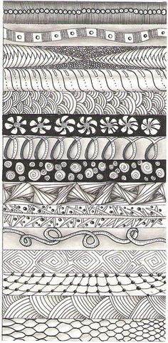 layered patterns are the beginning strips for ornaments by scholz. Visit flickr for example