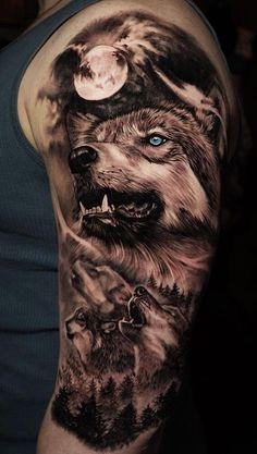 50 of the most beautiful wolf tattoo designs the internet has ever .- 50 der schönsten Wolf Tattoo Designs, die das Internet je gesehen hat 50 of the most beautiful wolf tattoo designs the internet has ever seen – – - Animal Sleeve Tattoo, Best Sleeve Tattoos, Tattoo Sleeve Designs, Tattoo Designs Men, Body Art Tattoos, Cool Tattoos, Galaxy Tattoo Sleeve, Best 3d Tattoos, Galaxy Tattoos