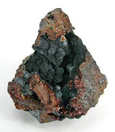 Rockbridgeite over Phosphosiderite - Indian Mountain, Cherokee Co., Alabama.