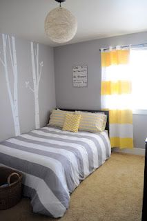 Steph R- what about these curtains for baby boys room? You could paint mostly grey. I love the wide stripe!