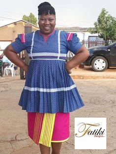 by Fatiki designs Pedi Traditional Attire, Sepedi Traditional Dresses, African Traditional Wear, African Attire, Summer Dresses, Bride, African Prints, How To Wear, Jackets