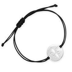 Adjustable Cord Bracelet with Fleur de Lis Design